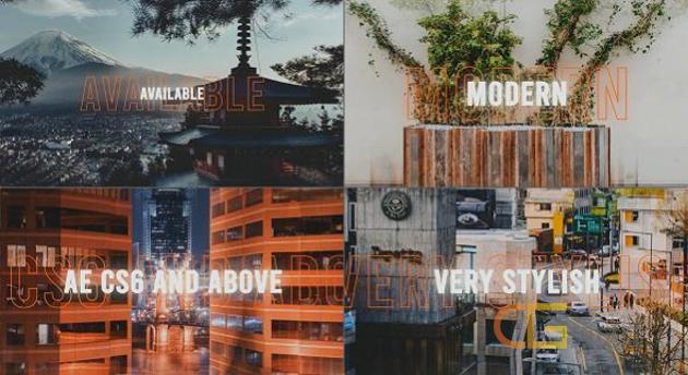 动感旋律节奏简约现代时尚开场片头视频效果宣传制作-AE模板下载