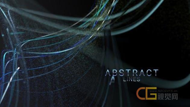 抽象彩色线条流动粒子动画介绍文字标题宣传片头ae模板设计源文件