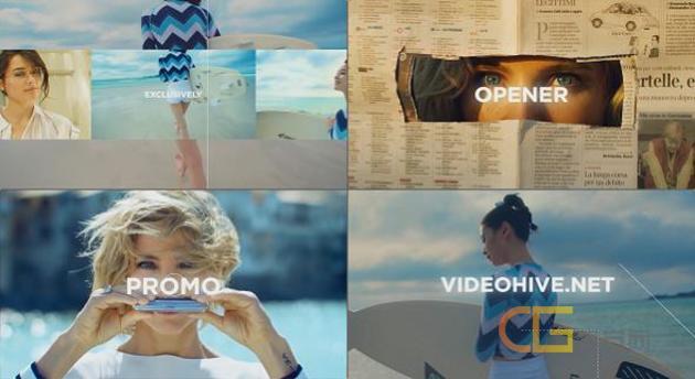 旅游城市广告宣传运动时尚快节奏动感开场Vlog介绍视频-AE模板下载