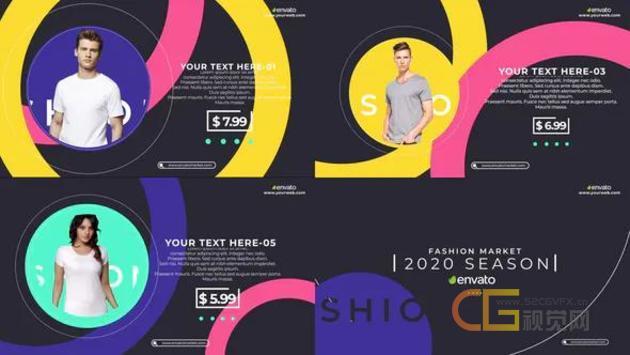双十一网上商店促销天猫购物时尚服装折扣广告片宣传视频制作AE模板