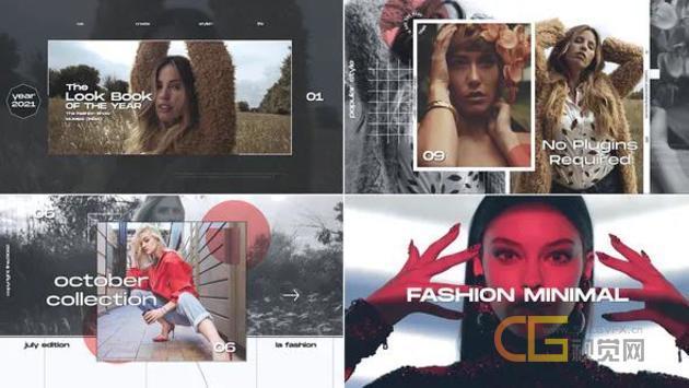 Fashion Opener时尚动感创意视频片头动画制作-AE模板
