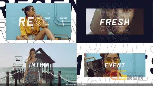 现代时尚开场白宣传视频博客动感节奏短片视频制作-AE模板