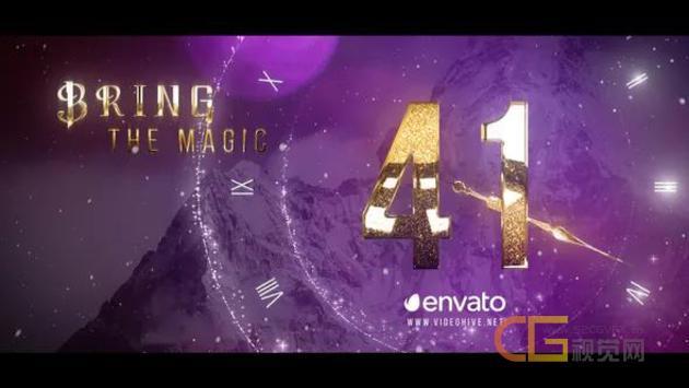 2020新年元旦圣诞节活动庆祝时钟倒计时开场视频AE模板