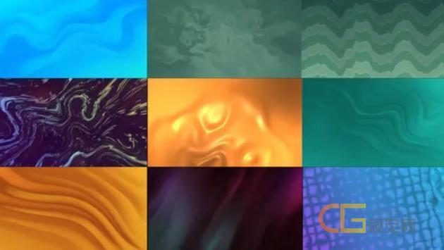 10种彩色信息图形背景波浪涟漪状运动图形动画背景-AE模板