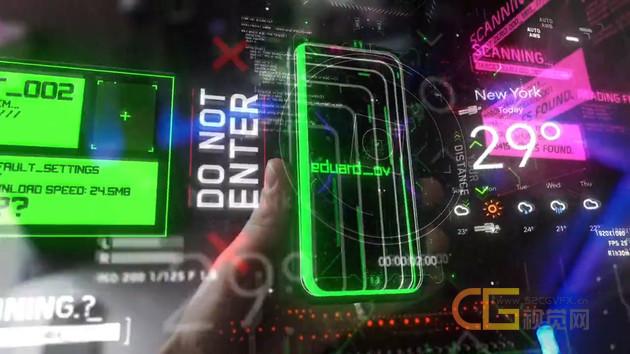 视频素材-100个科技感线条框架代码HUD运动图形元素动画特效合成素材包 Hud Elements Pack vol.1